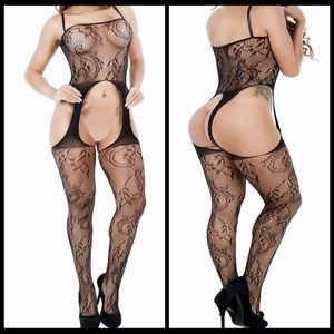 ❤️NEW Sexy Lace Bodystocking Lingerie #L026